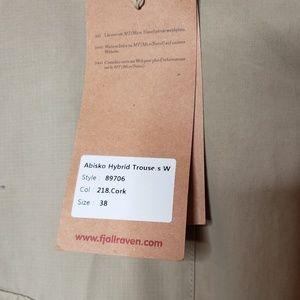 innowacyjny design szczegóły dla Pierwsze spojrzenie Fjallraven Abisko hybrid trouser cork 29 NEW NWT